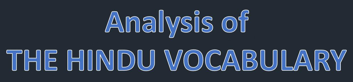 The Hindu Vocabulary Analysis